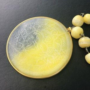 Vintage Golden Mother of Pearl Necklace. Rare.